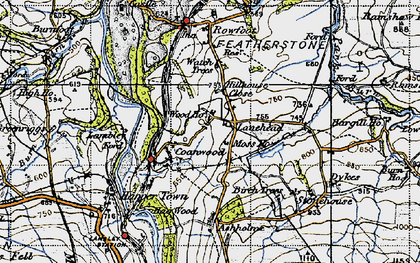 Old map of Ashholme in 1947