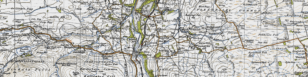 Old map of Wood Houses in 1947