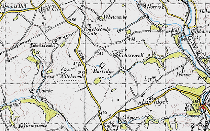 Old map of Whetcombe in 1946