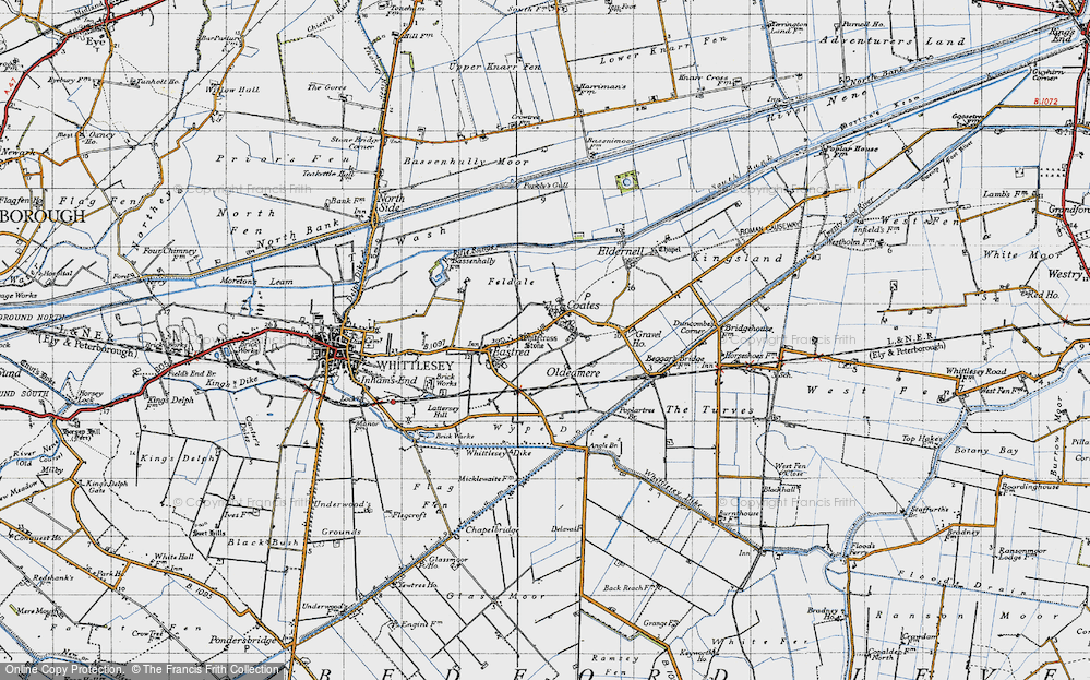 Old Map of Coates, 1946 in 1946