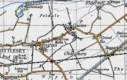 Old map of Wype Doles in 1946