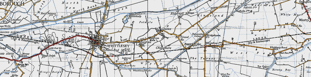 Old map of Whitecross Stone in 1946