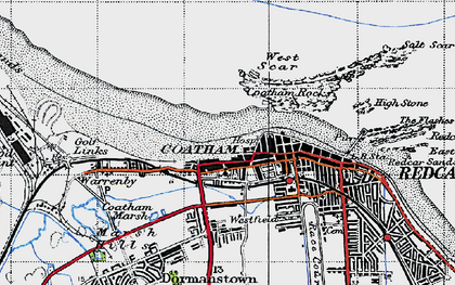 Old map of West Scar in 1947