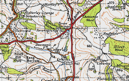 Old map of Coberley in 1946