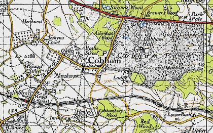 Old map of Cobham in 1946