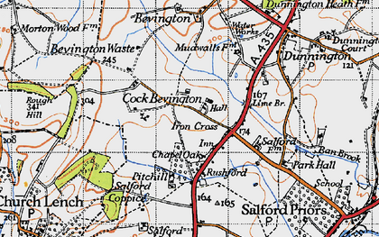 Old map of Ban Brook in 1946
