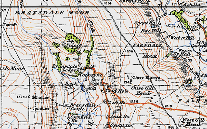 Old map of Ash Ho in 1947