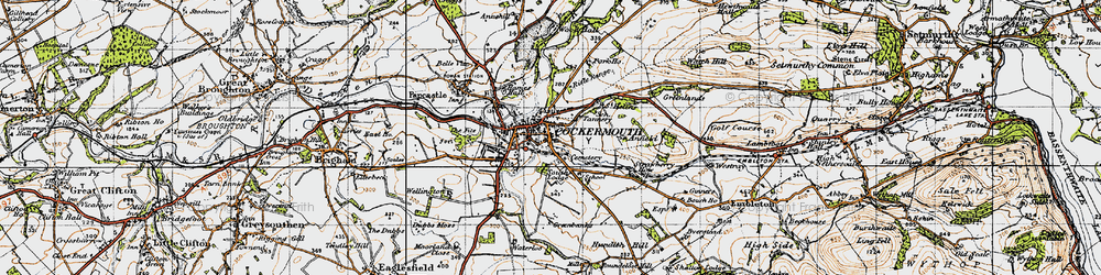 Old map of Wyndham Ho in 1947