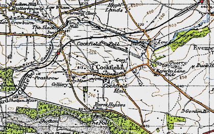 Old map of Cockfield in 1947