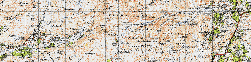 Old map of Wet Side Edge in 1947
