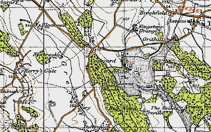 Old map of Banses Wood in 1947