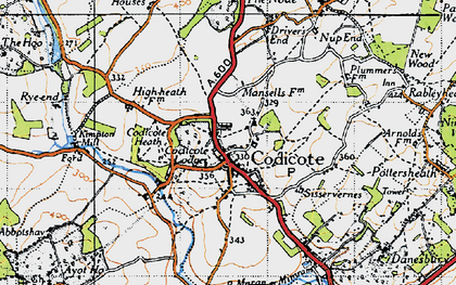Old map of Codicote in 1946