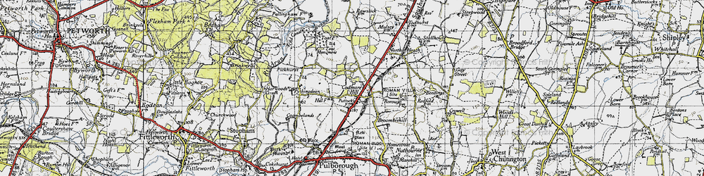 Old map of Toat Monument in 1940