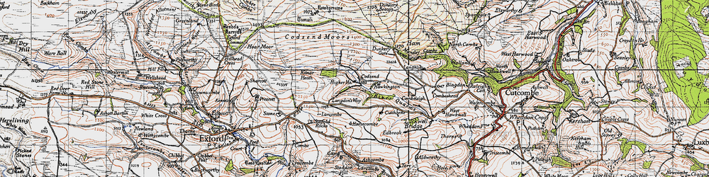 Old map of Lang Combe in 1946