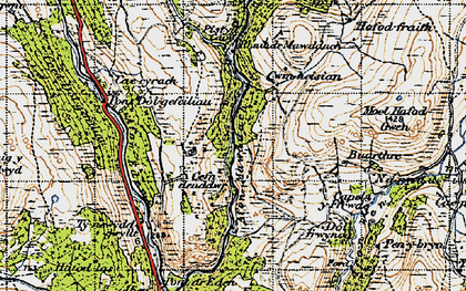 Old map of Afon Eden in 1947