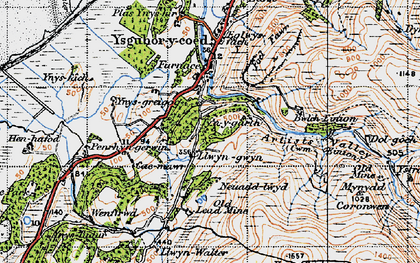Old map of Ynys Greigiog in 1947