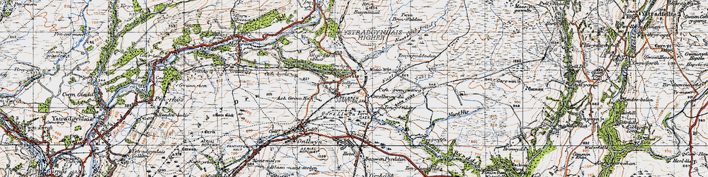 Old map of Tonspyddaden in 1947