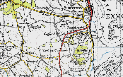 Old map of Cofton in 1946