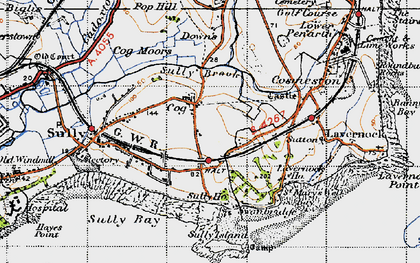 Old map of Cog in 1947