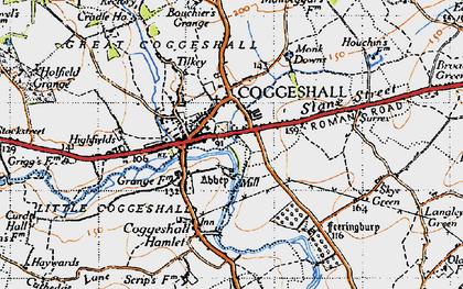 Old map of Coggeshall in 1945