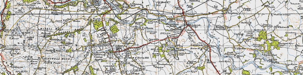 Old map of Colburn in 1947