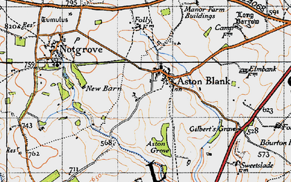 Old map of Aston Grove in 1946