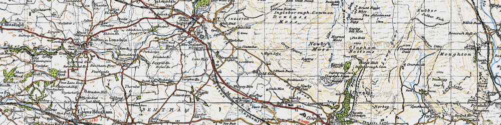 Old map of Yarlsber in 1947