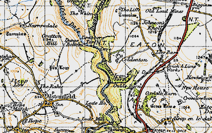 Old map of Whim, The in 1947
