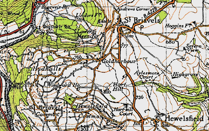 Old map of Coldharbour in 1946