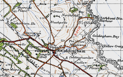 Old map of Whitecross in 1947