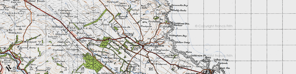 Old map of Abbey Park in 1947