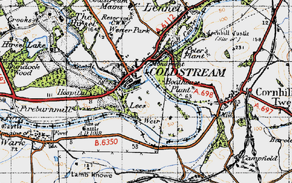 Old map of Wester Park in 1947