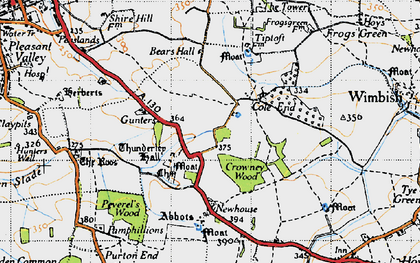 Old map of Abbots in 1946