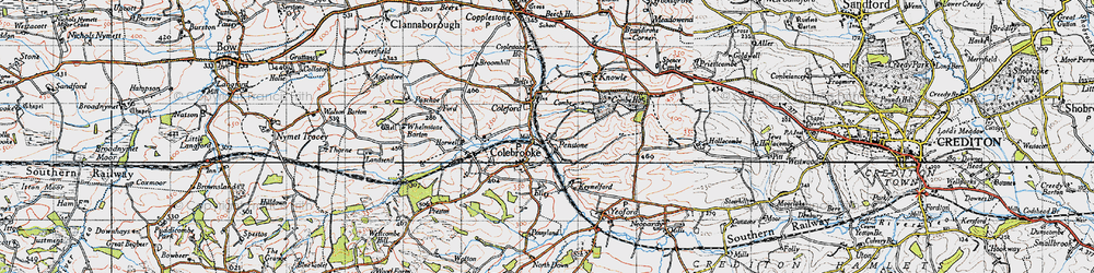 Old map of Whelmstone Barton in 1946