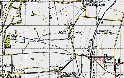 Old map of Coleby in 1947