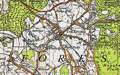 Old map of Coleford in 1946