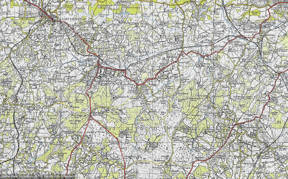 Old Map of Coleman's Hatch, 1940 in 1940