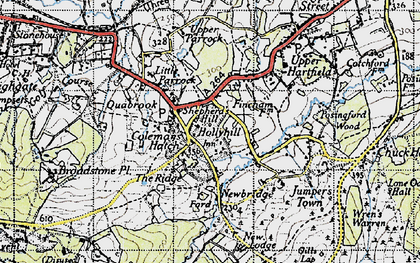 Old map of Coleman's Hatch in 1940