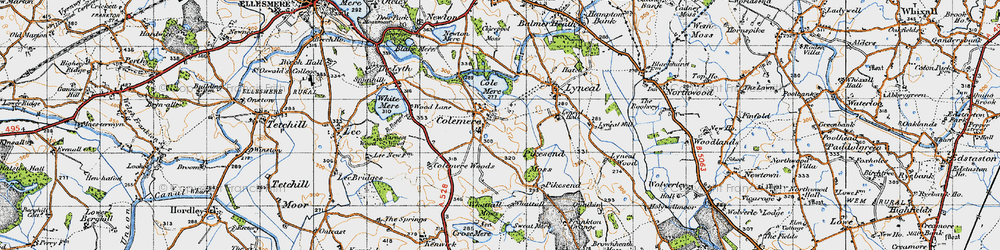 Old map of Colemere in 1947