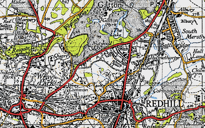 Old map of Coles Meads in 1940
