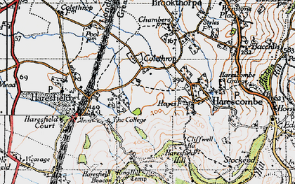 Old map of Colethrop in 1946