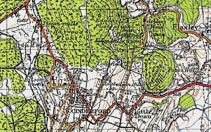 Old map of Collafield in 1947