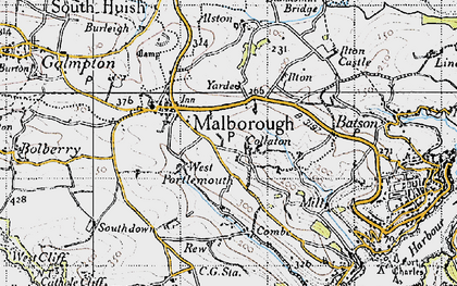 Old map of Collaton in 1946