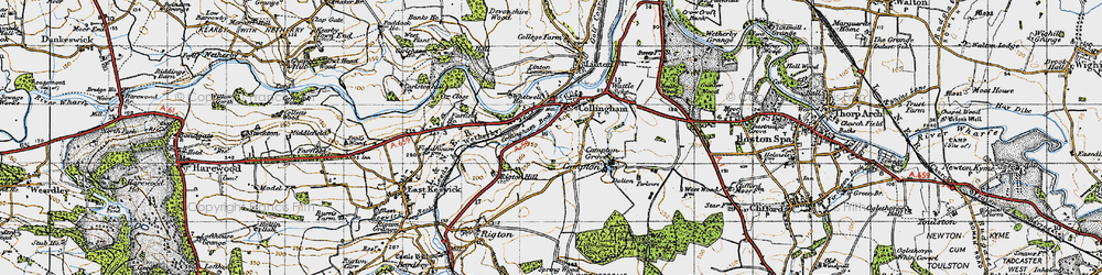 Old map of Collingham in 1947