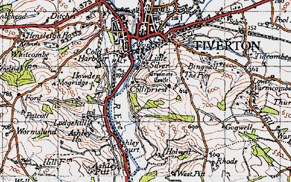 Old map of Backs Wood in 1946