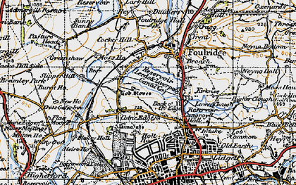 Old map of Alkincoats in 1947