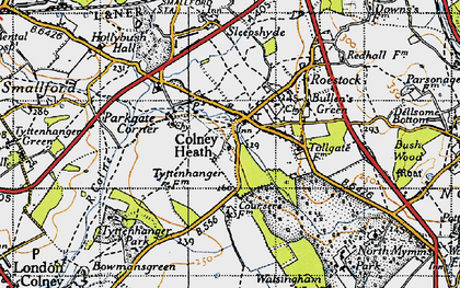 Old map of Colney Heath in 1946