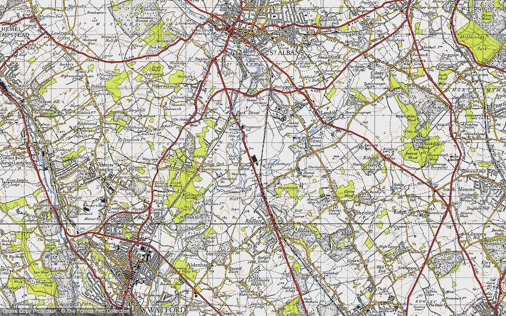 Old Map of Colney Street, 1946 in 1946