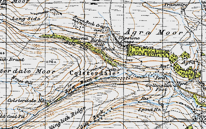 Old map of Agra Moor in 1947