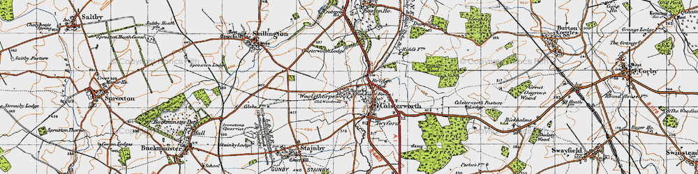 Old map of Colsterworth in 1946